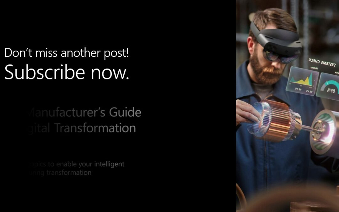Four key topics to enable your intelligent manufacturing transformation
